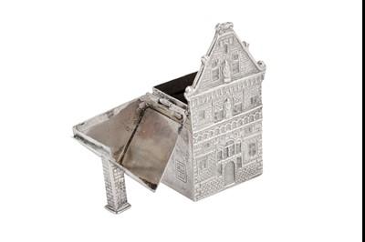Lot 3-An early 20th century Dutch 833 standard silver novelty match safe, Hoorn 1905 by J. Verhoogt (active 1894-1936)