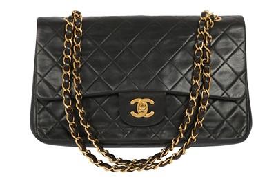 Lot 1264-Chanel Black Medium Double Flap Bag