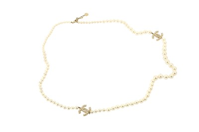 Lot 1205-Chanel CC Logo Sautoir Necklace