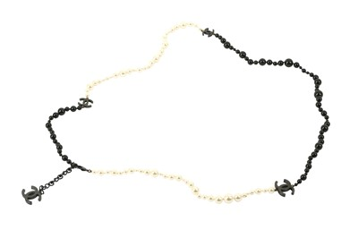 Lot 1206-Chanel CC Logo Sautoir Necklace