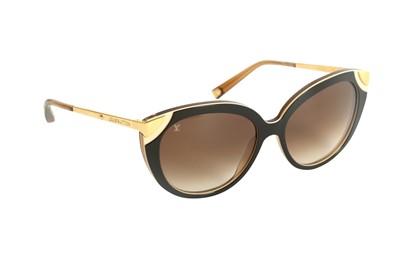 Lot 1282-Louis Vuitton Amber Cat Eye Sunglasses