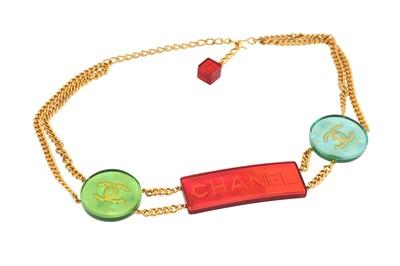 Lot 12-Chanel Multi-Color Logo Chain Belt