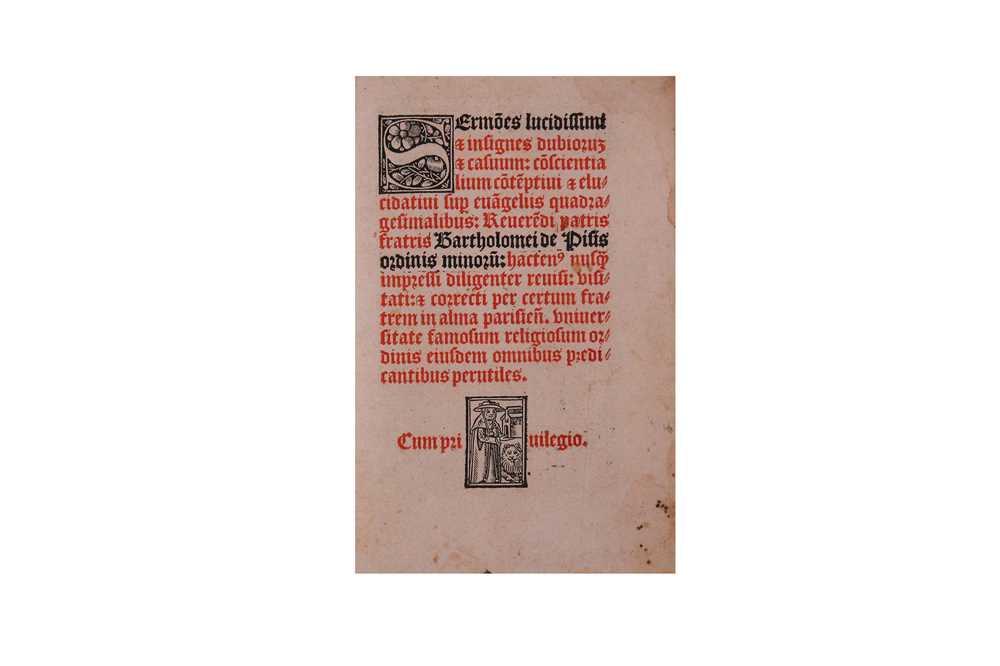Lot 300-Albizzi (Bartolomeo) or Bartholomeus, de Pisis