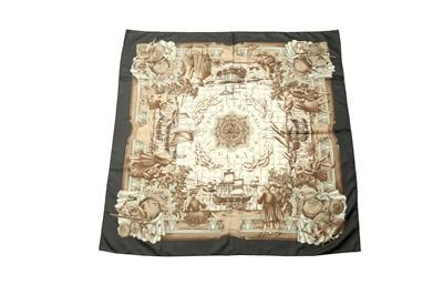 Lot 1252-Hermes 'Azulejos' Silk Scarf