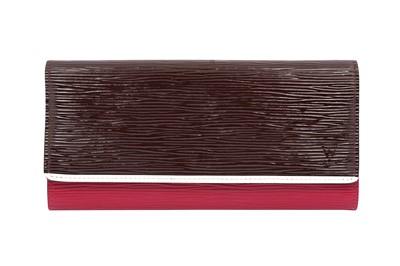 Lot 47-Louis Vuitton Tricolur Epi Flores Wallet