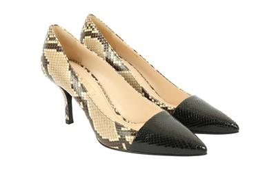 Lot 1260-Prada Python Court Shoes - Size 38