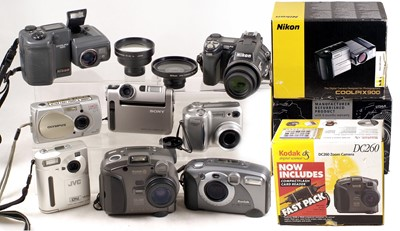 Lot 463-Various Digital Cameras, inc Nikon CoolPix 9000 & 995 etc.