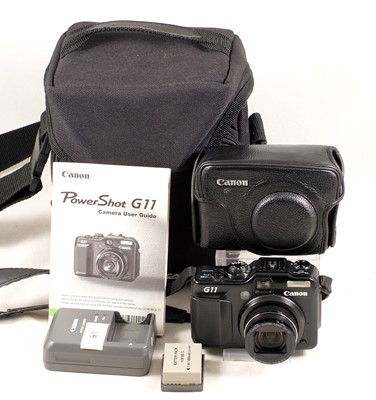 Lot 490-Canon PowerShot G11 Compact Digital Camera