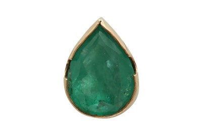 Lot 1245-An emerald pendant