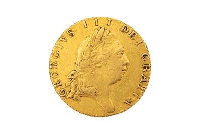 Lot 78-Half Guinea 1797, George III fifth laureate head right, R. spade-shaped shield