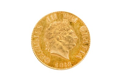 Lot 80-Half-Sovereign, George III 1818, engraved by...