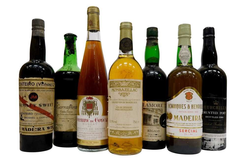 Mixed Lot of Aged French and Portuguese Wine and Port 7 Bottles in a mixed...