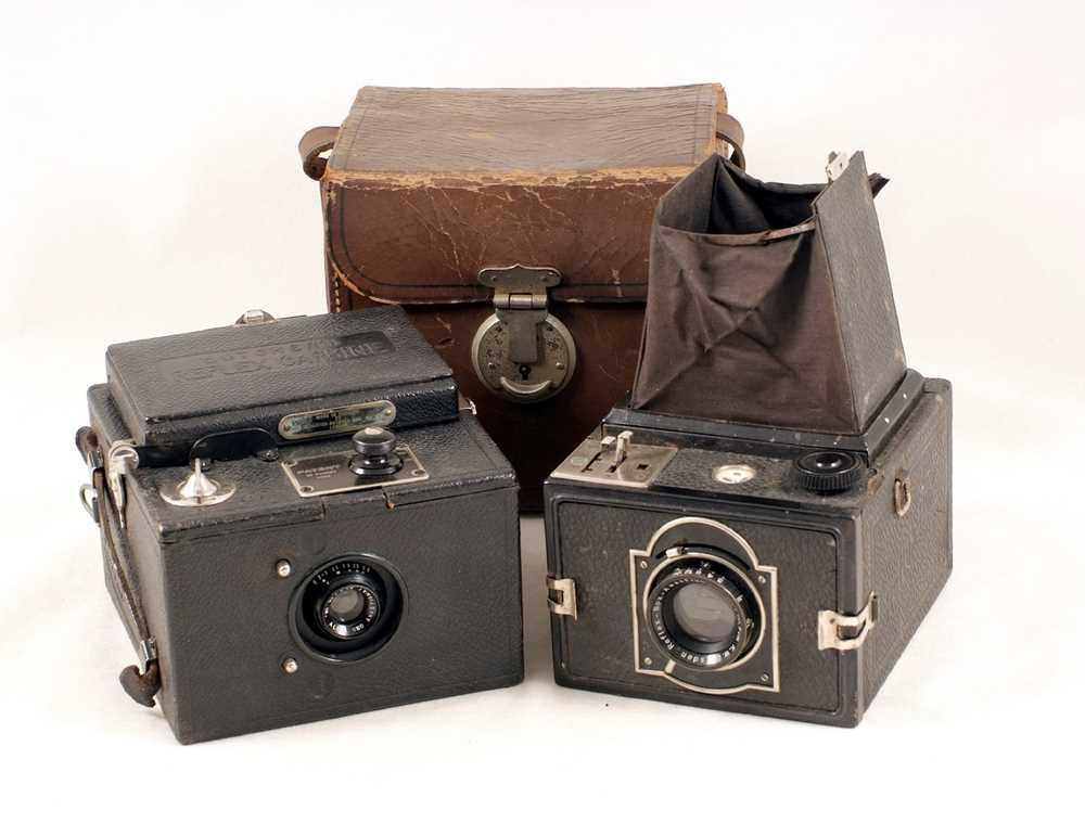 A Pair of Reflex Roll Film Box Cameras
