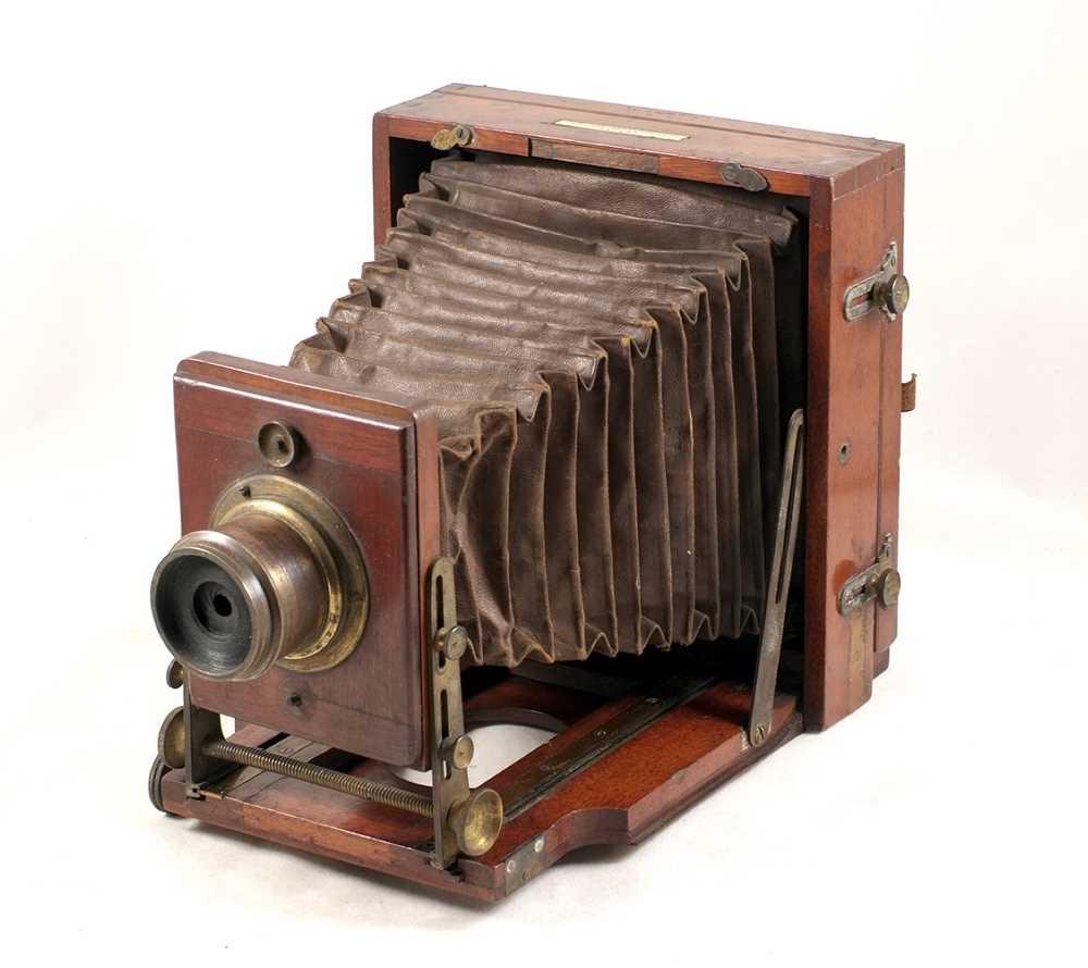 Lot 27-Half Plate Lancaster 1889 Intstantograph Field Camera. With un-named lens.
