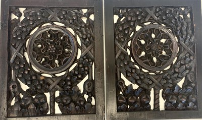 Lot 41 - A PAIR OF 16TH CENTURY ENGLISH CARVED PINE PANELS, CIRCA 1550