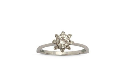 Lot 1233-A diamond cluster ring