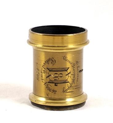 Lot 48-An Un-named Half Plate Wood & Brass Field Camera