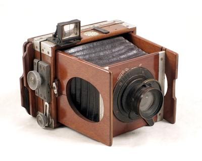 Lot 37-A Shew XIT Folding Camera, Rare 3x3 inch Square Format
