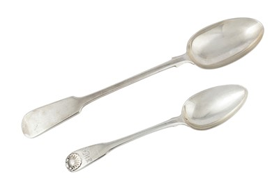 Lot 86-A George III sterling silver tablespoon, London 1803 by William Eaton and William Fearn