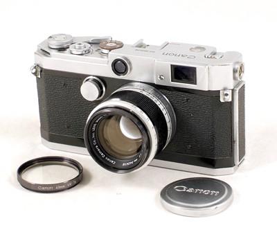 Lot 80-Canon Model L1 Rangefinder Camera & 50mm f1.8 Lens