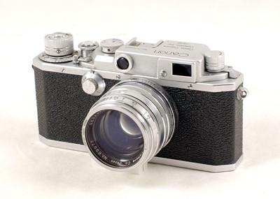 Lot 82-Canon Model IID2 Rangefinder Camera & 50mm Serenar f1.8 Lens.