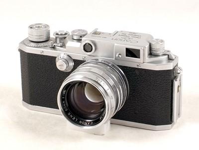 Lot 83-Canon Model IIf Rangefinder Camera