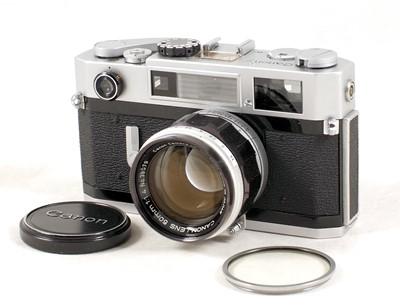 Lot 85-Canon 7sZ Rangefinder Camera & 50mm f1.4 Lens.