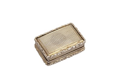 Lot 7-A George IV sterling silver vinaigrette, Birmingham 1826 by John Bettridge