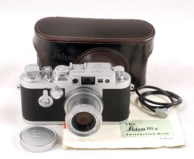 Lot 88-Leica IIIG Rangefinder Camera with Collapsable Elmar Lens