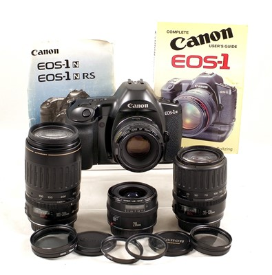 Lot 467-A Group of Canon AF Prime & Zoom Lenses