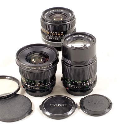 Lot 479-Canon 20mm f2.8 & Other FD Lenses