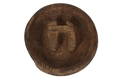 Lot 69-AN ANCIENT CHINESE PERIOD CARVED WOODEN 'BUFFALO' BOWL