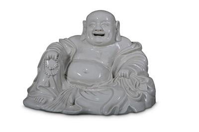 Lot 10 - A CHINESE BLANC-DE-CHINE FIGURE OF BUDAI HESHANG.
