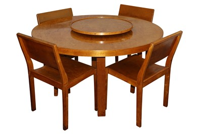 Lot 43-ALVAR AALTO FOR FINMAR LTD, FINLAND: Table 91 with lazy susan