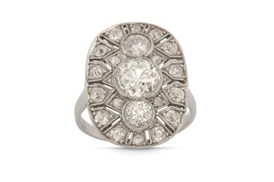 Lot 1201-A diamond plaque ring, circa 1915