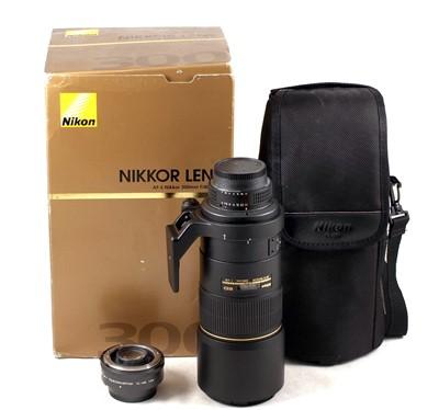 Lot 79-AF-S Nikkor 300mm f4D Lens & TC-14E 1.4X Converter