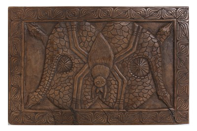 Lot 46-A 20TH CENTURY WEST AFRICAN CARVED HARDWOOD PROTECTIVE HOUSE FETISH DEPICTING THE DIETY 'ANANSIA'