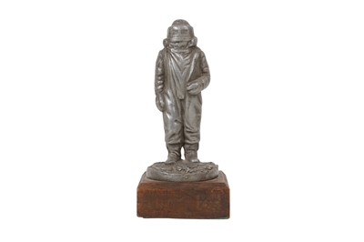 Lot 92-A CAST SPELTER FIGURE OF THE SPACESUIT FROM THE BRITISH TELEVISION SERIES 'THE QUARTERMASS EXPERIMENT', CIRCA 1950