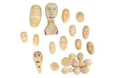 Lot 50-A COLLECTION OF 20TH CENTURY INUIT MARINE IVORY PIECES