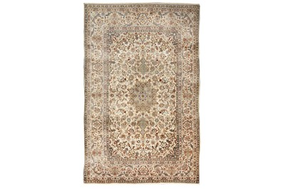 Lot 27-VERY FINE PART SILK ISFAHAN RUG, CENTRAL PERSIA