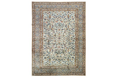 Lot 48-A FINE SIGNED KASHAN RUG, CENTRAL PERSIA