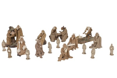 Lot 71-A COLLECTION OF CHINESE EARTHENWARE MINIATURE FIGURES