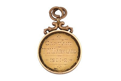 Lot 33-A Victorian 15 carat gold golf prize medal, Birmingham 1900 by Walker and Hall