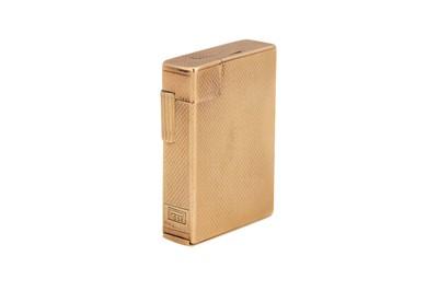 Lot 29 - A George VI Art Deco 9 carat gold lighter, London 1949 by S. J. Rose