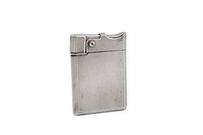 Lot 26 - A George VI sterling silver lighter, London 1947 by Asprey and Co