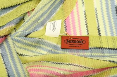 Lot 1235-Missoni Lime Green Stripe Scarf