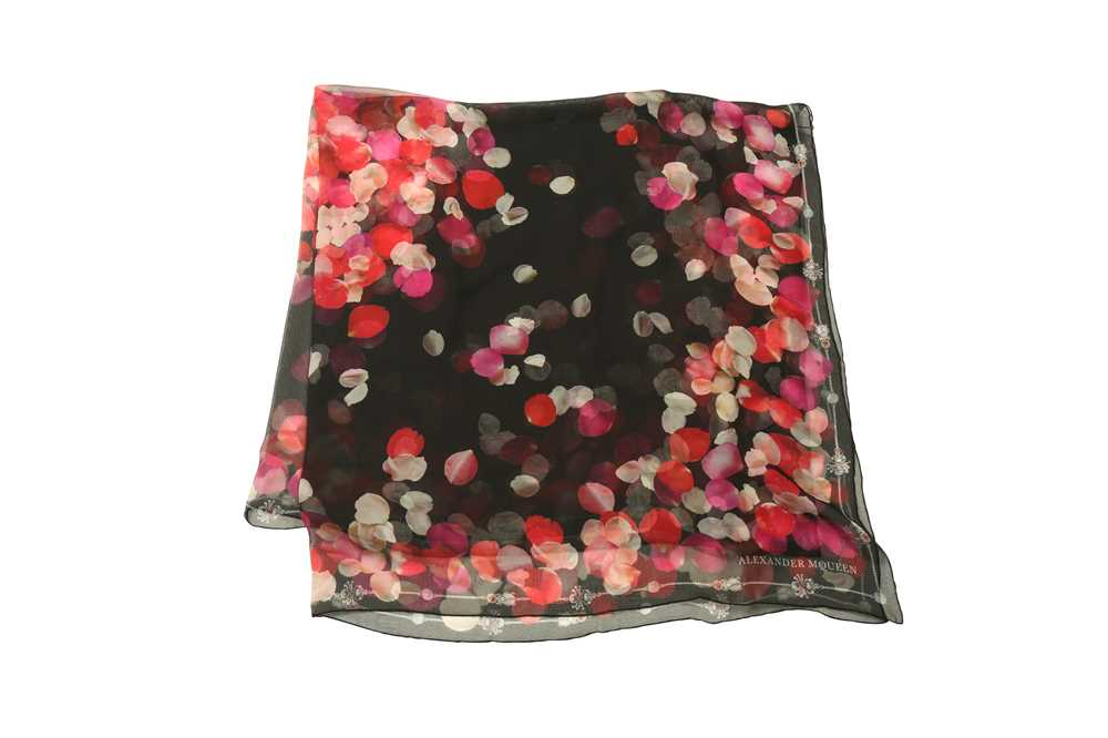 Lot 1228-Alexander McQueen Black Silk Scarf