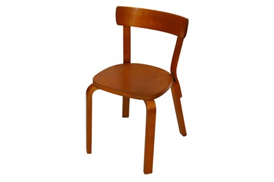 Lot 46-ALVAR AALTO for ARTEK, FINLAND, (1898-1976): a set of three birch '69' chairs