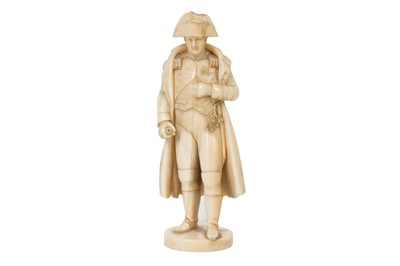 Lot 80-A 19TH CENTURY FRENCH CARVED IVORY FIGURE OF NAPOLEON BONAPARTE