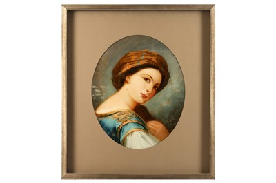 Lot 830-AN OVAL REVERSE CONVEX GLASS PAINTING IN THE MANNER OF AUGUSTUS JULES BOUVIER
